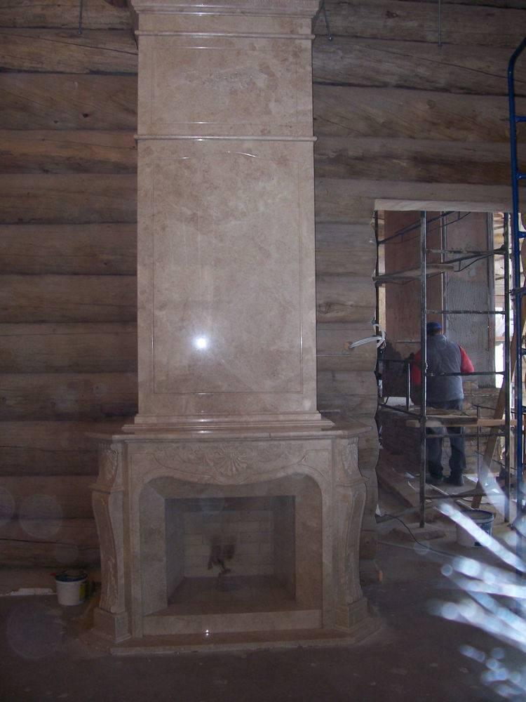 Камин из мрамора-9 фото 2 — изелия и проекты от Bevers Marmyr