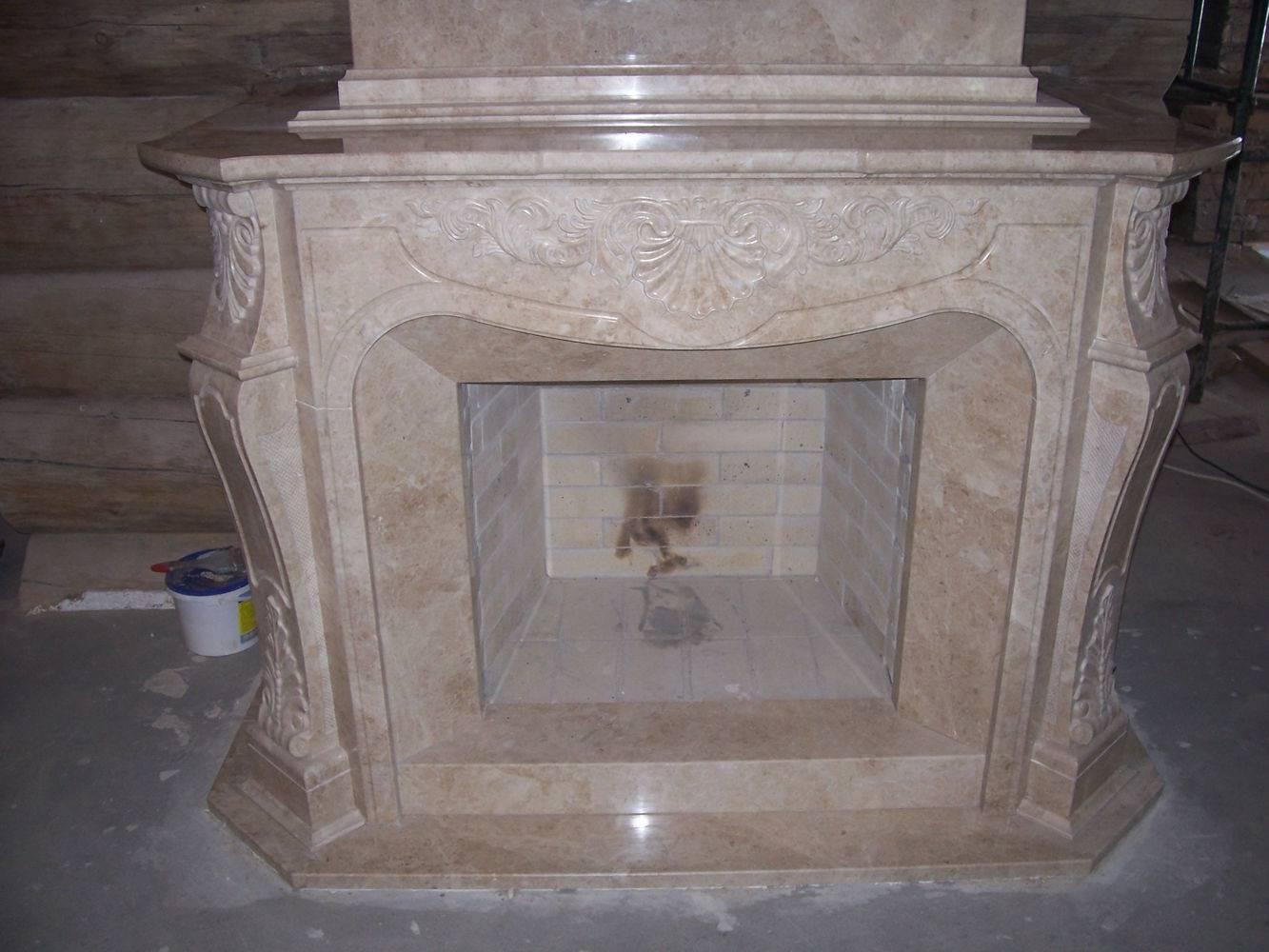 Камин из мрамора-9 фото 1 — изелия и проекты от Bevers Marmyr