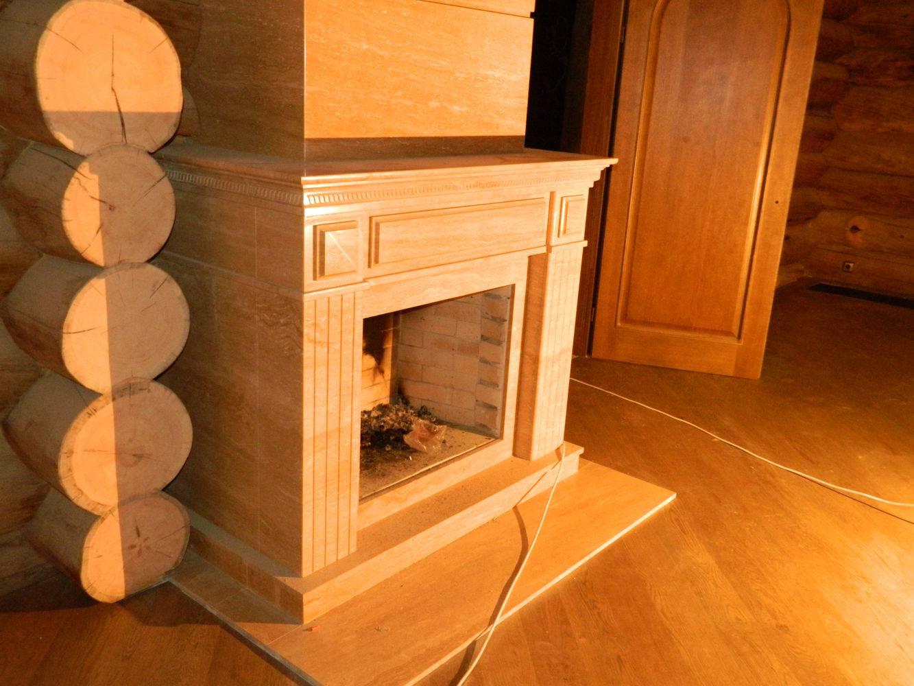 Камин из мрамора-2 фото 1 — изелия и проекты от Bevers Marmyr