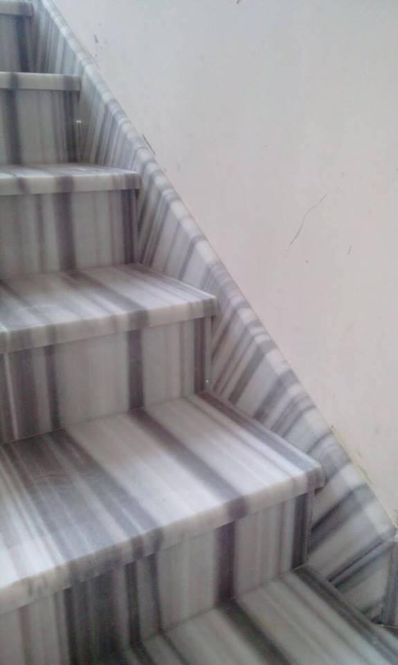 Лестница из мрамора-3 фото 2 — изелия и проекты от Bevers Marmyr