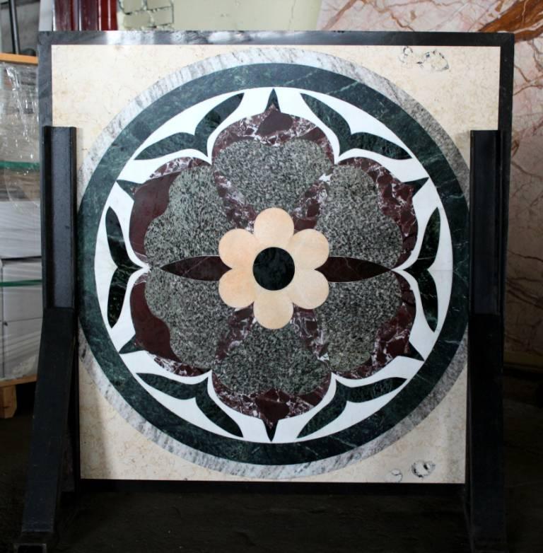 Мозаичное панно из мрамора фото 1 — изелия и проекты от Bevers Marmyr