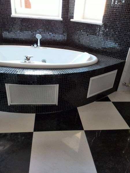 Облицовка ванной комнаты мрамором-2 фото 2 — изелия и проекты от Bevers Marmyr