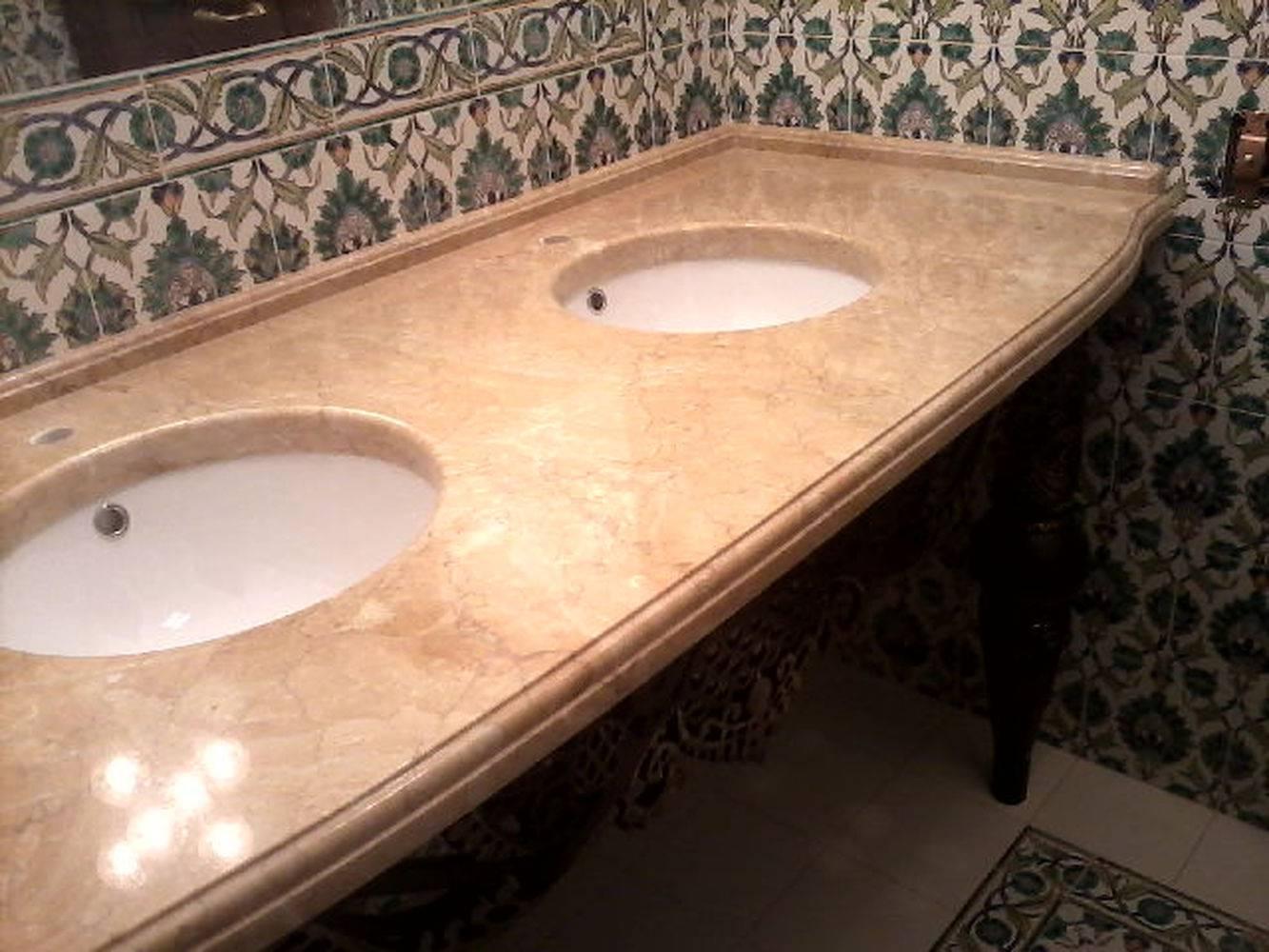 Столешница для ванной-7 фото 1 — изелия и проекты от Bevers Marmyr