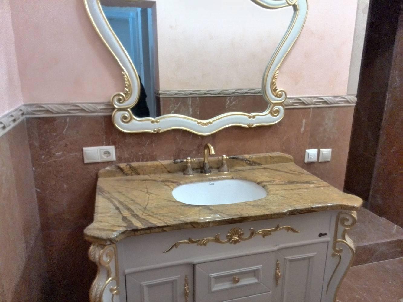 Столешница для ванной-4 фото 1 — изелия и проекты от Bevers Marmyr