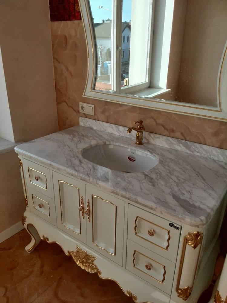 Столешница для ванной-2 фото 1 — изелия и проекты от Bevers Marmyr