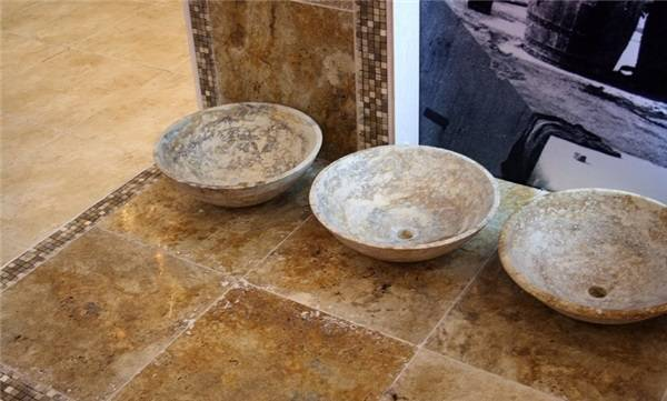 30,5х30,5х1,2 travertine scabas фото 3 — изелия и проекты от Bevers Marmyr