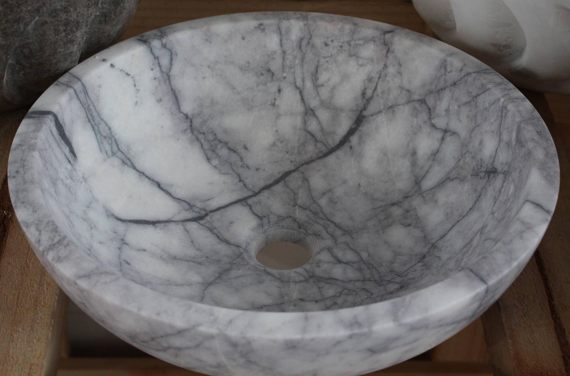 Серый умывальник из мрамора, Турция фото 1 — изелия и проекты от Bevers Marmyr