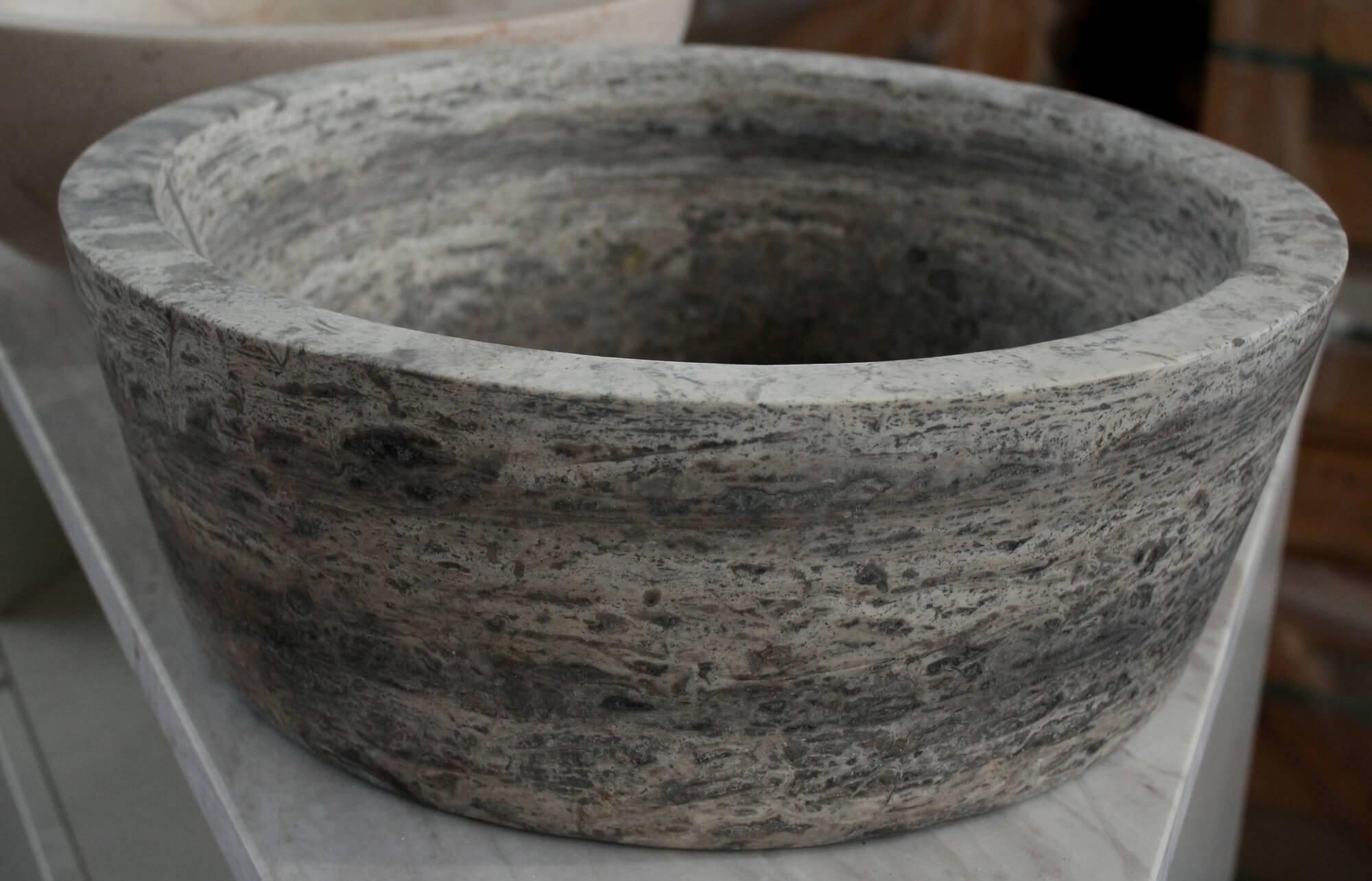 Мраморный умывальник в виде чаши, Турция фото 1 — изелия и проекты от Bevers Marmyr