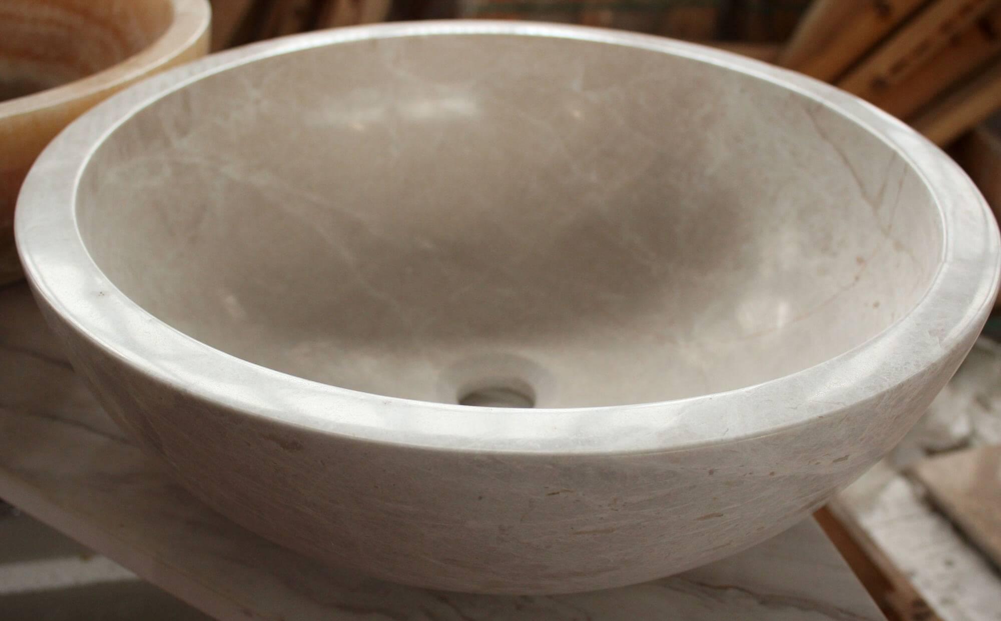 Круглый мраморный умывальник, Турция фото 1 — изелия и проекты от Bevers Marmyr