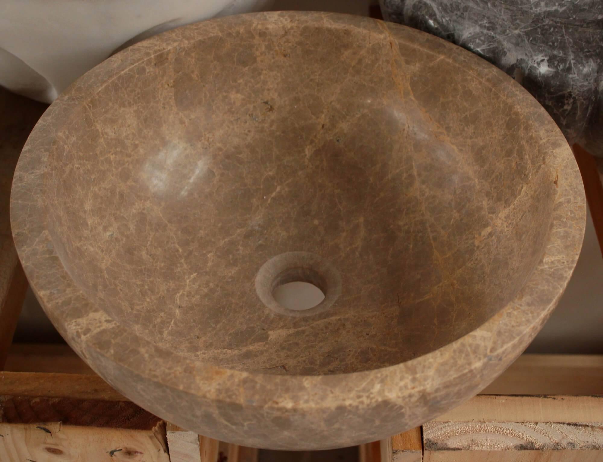 Коричневый мраморный умывальник, Турция фото 1 — изелия и проекты от Bevers Marmyr
