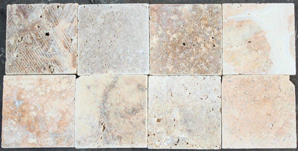 Травертиновая плитка Scabos 10х10, Турция фото 1 — изелия и проекты от Bevers Marmyr