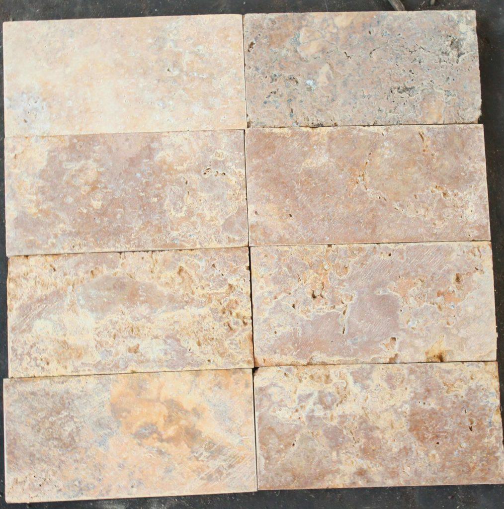 Травертиновая плитка Scabos 7,5х15