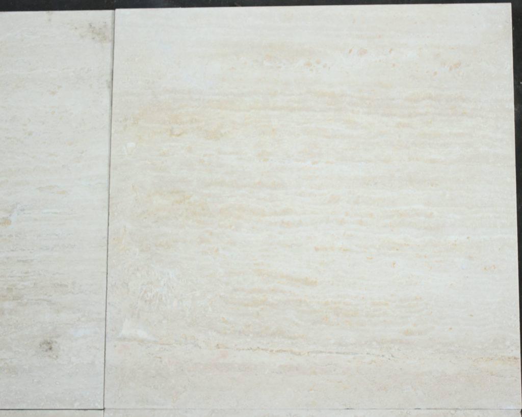 Плитка из Travertine Light vein cut шлифованная и заполненная, размером 40х40