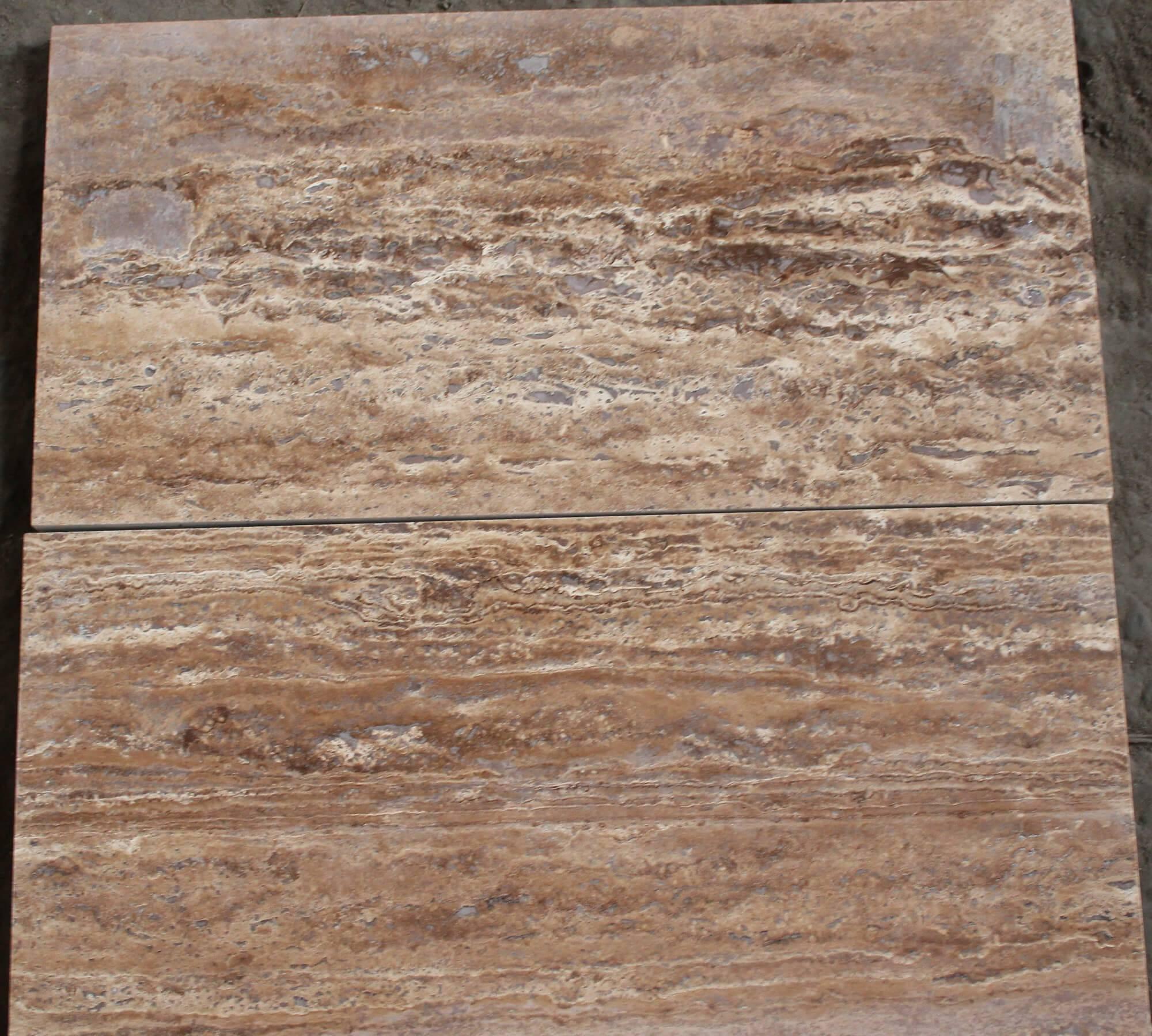 Плитка брашированная из TRAVERTINE NOCHE, размером 30х60 фото 1 — изелия и проекты от Bevers Marmyr