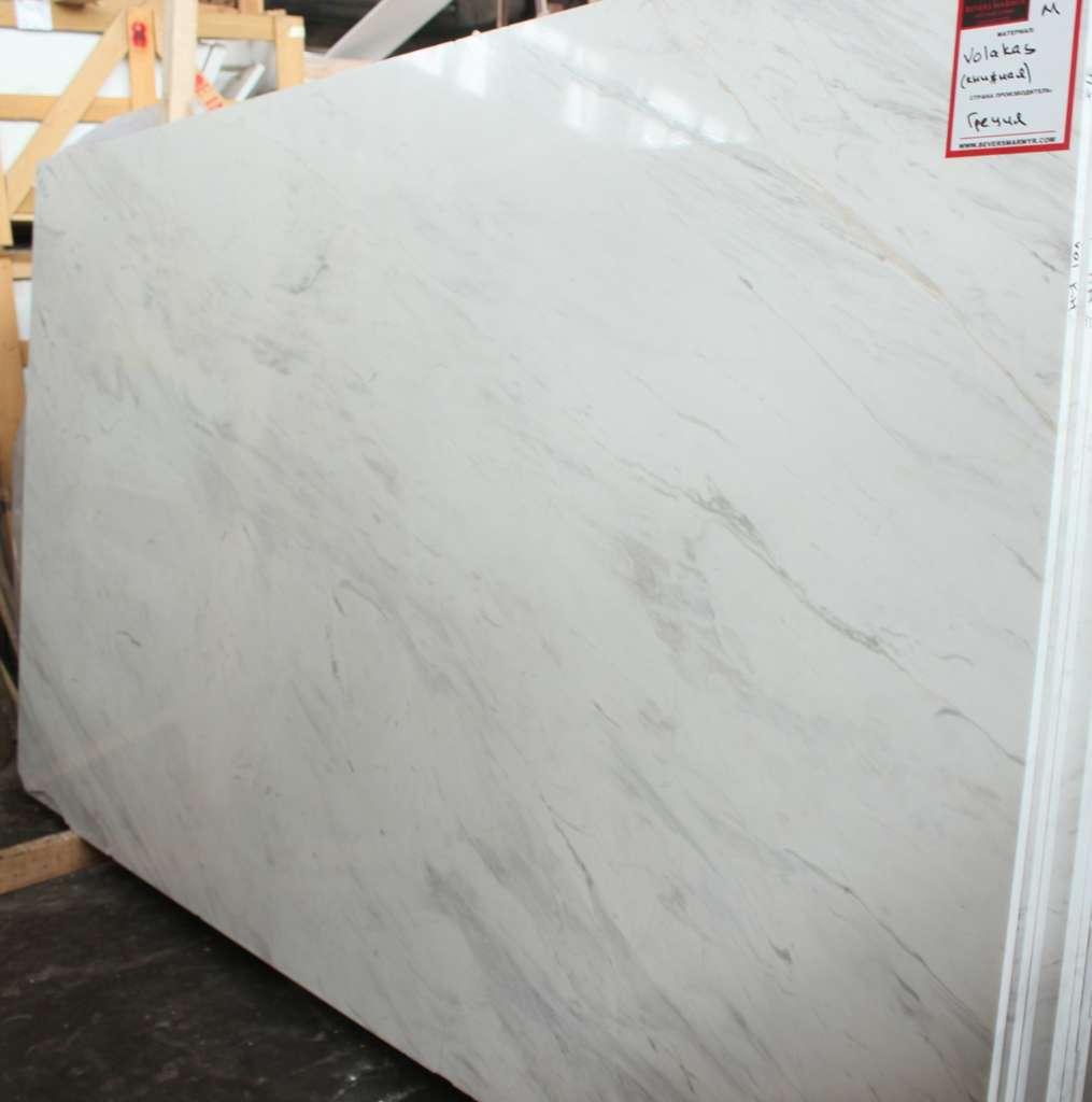 Бело-серый мрамор Volokas из Греции