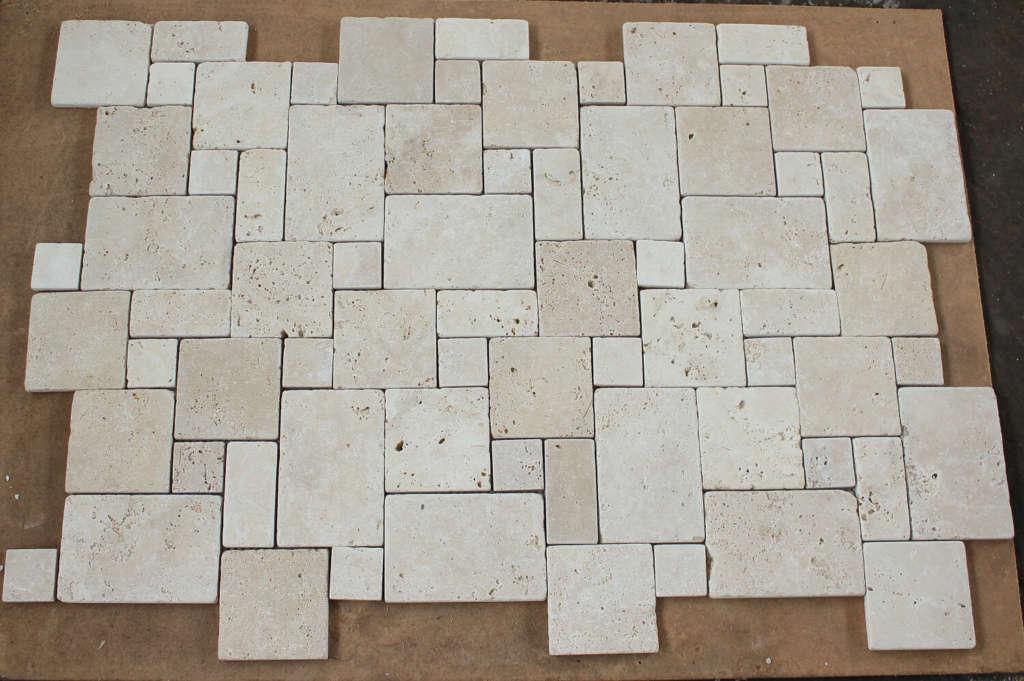 Плитка травертиновая мозаика