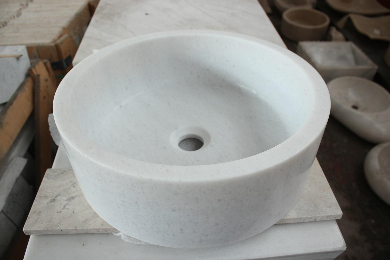 Раковина із білого натурального каменю фото 1 — изелия и проекты от Bevers Marmyr