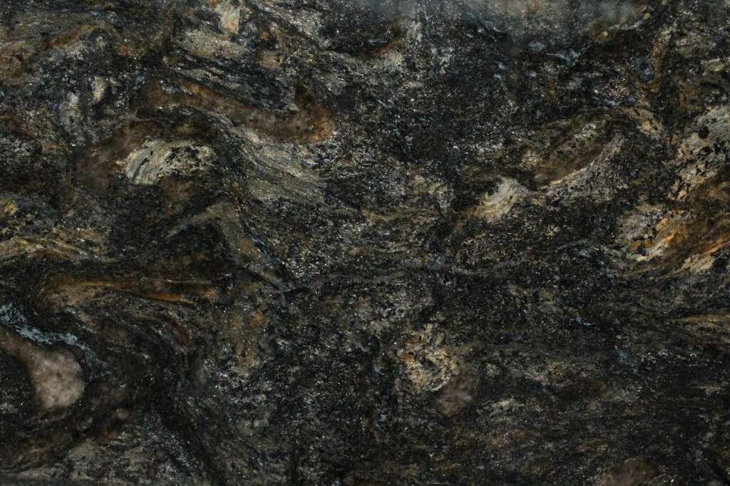 Чорний граніт Cosmos с золотими прожилками з Бразилії