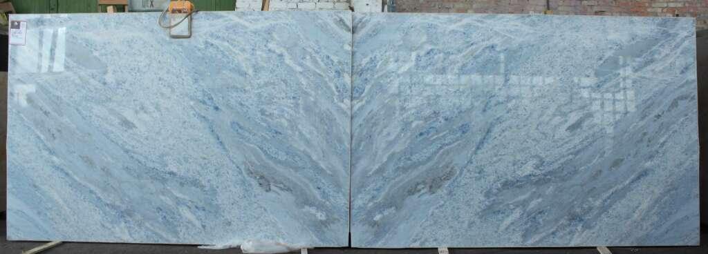 Мармур Cristalita Blue в книжній поліровці